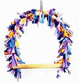 Avian Specialties Bird Toy Swing Rag Time, Medium
