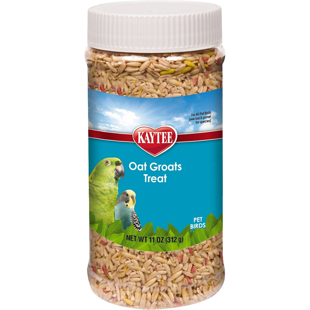 Kaytee Oat Groats Treat for All Pet Birds, 11 oz