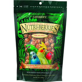 Lafeber's Nutri-Berries Tropical Fruit Small Parrots 10oz