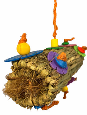 Birds LOVE Coconut Fiber Burrito Parrot Toy