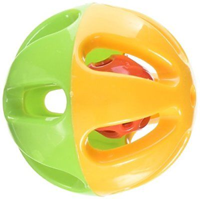 Happy Beaks Large Round Rattle Foot Toy