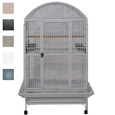 "36""x28"" Dometop Cage, White"