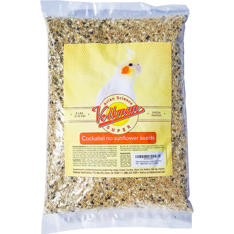 Volkman Avian Science Super Cockatiel No Sunflower Bird Food