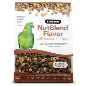 Zupreem Nutblend for Parrots & Conures, 3.25 lbs