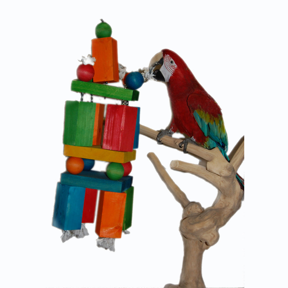 Giant Wood Blocks Bird Toy