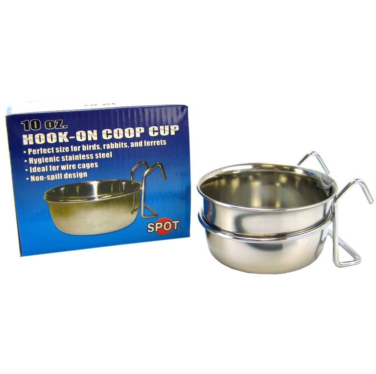 Stainless Steel Coop Cup w/ Wire Holder, 10 oz