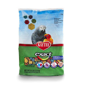 Kaytee Exact Rainbow Daily Diet Parrot & Conure Food, 2.5 lbs