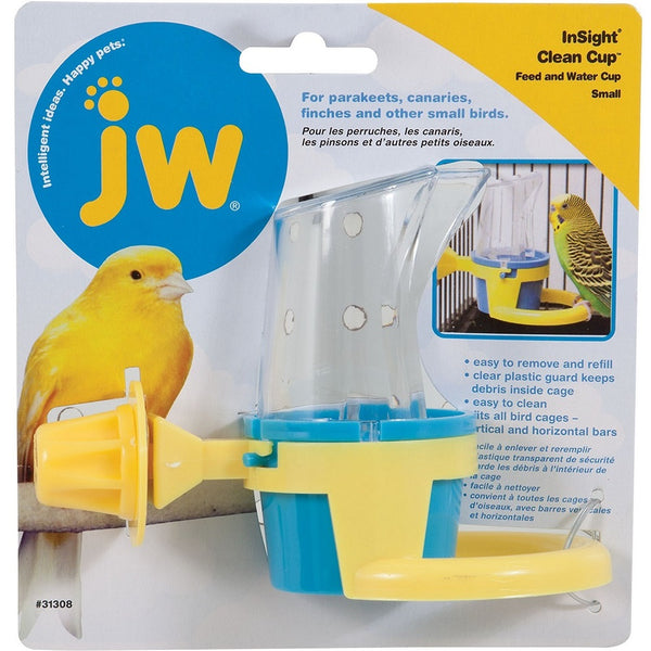 JW Pet InSight Clean Cup Bird Feed & Water Cup, Small