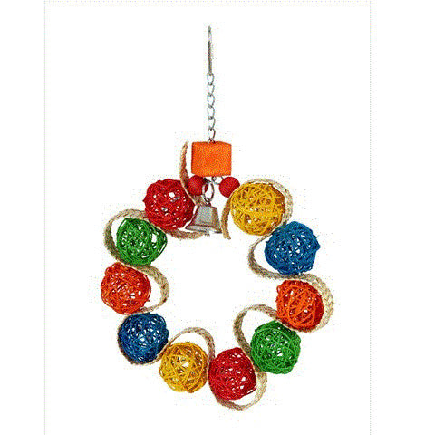 Vine Ball Braided Wreath Pet Toy