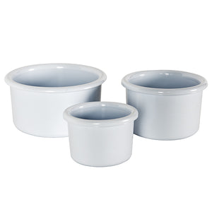White Impact Resistant Feeding Crock, Large