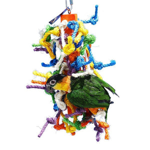 Birds LOVE Sisal Rope Wood Block for Small and Medium Size Birds