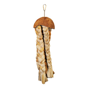 Java Wood Jellyfish Bird Toy - Large