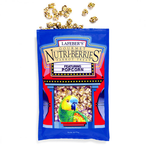 Lafeber's Nutri-Berries Parrot Treat Popcorn 1lb