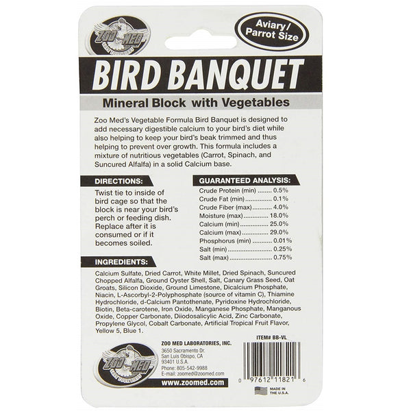 Zoo Med Bird Banquet Veggie Mineral Treat, Large