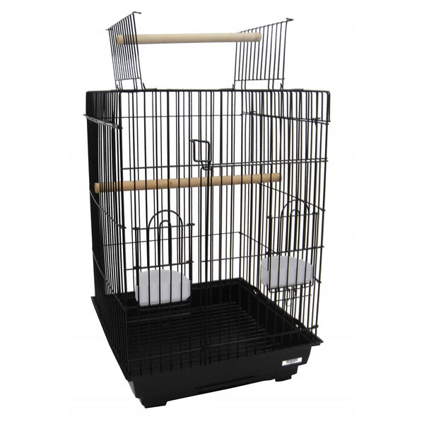 "YML3/4"" Bar Spacing Open Top Small Parrot Cage, 18"" x 18"" (2/case)"