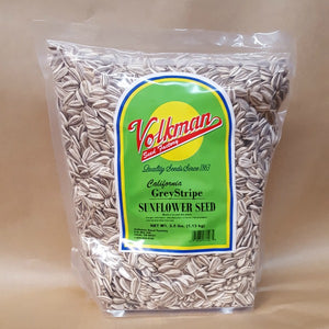 Volkman Seed Factory Grey Stripe Sunflower Seeds, 2.5 lbs