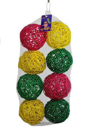 8PK 5in LG VINE BALLS COLORED