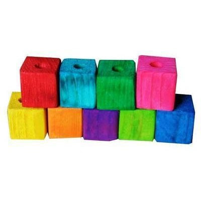 Colourful Wooden Cubes Small 25mm