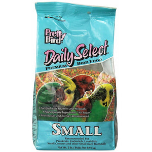Pretty Bird Daily Select Premium Extruded Bird Food, Small, 2 lbs