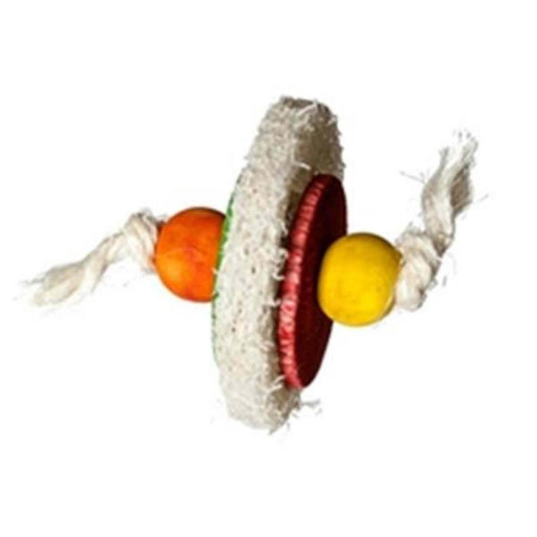 Loofa Disc Food Bird Toy