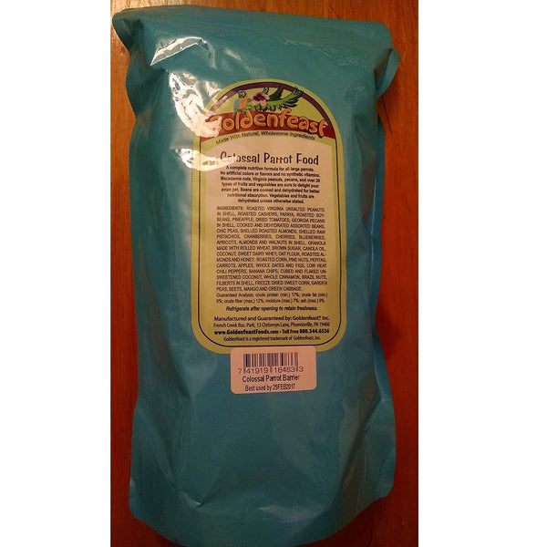 Goldenfeast Colossal Parrot Blend 32lb