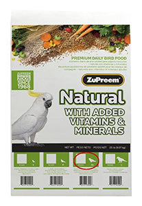 Zupreem Natural for Parrots & Conures, 20 lbs