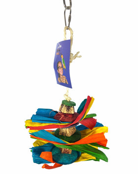 Birds LOVE Corn leaf Party Parrot Toy for Small to Medium Birds to Gnaw, Chew and Play