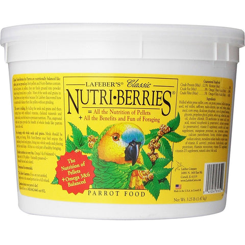 Lafeber's Nutri-Berries Classic Parrot Food Tub 3.25lb