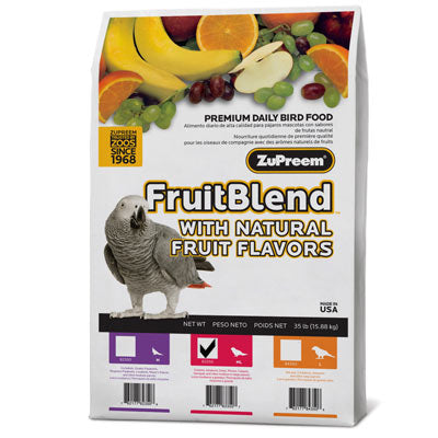 Zupreem FruitBlend Diet for Parrots & Conures, 35 lbs