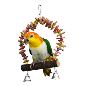 Birds LOVE Hearts, Leather and Bell Swing for Small Size Birds