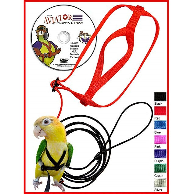 Aviator Harness and Leash X-Small, Red