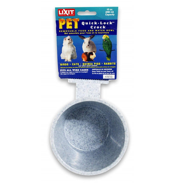 Lixit Quick Lock Crock 10oz Granite