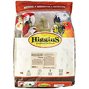 Higgins Sunburst Gourmet Food Mix for Conures, 25 lbs