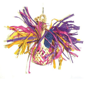 Frilly Basket Bird Toy