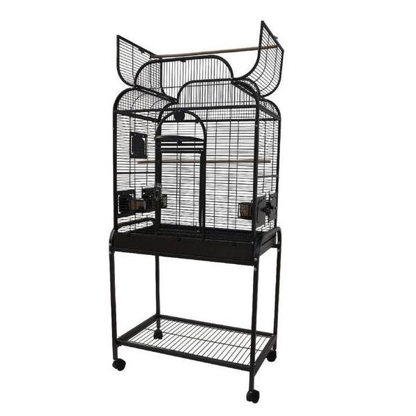 "28""x18"" Scroll Top Cage, White"