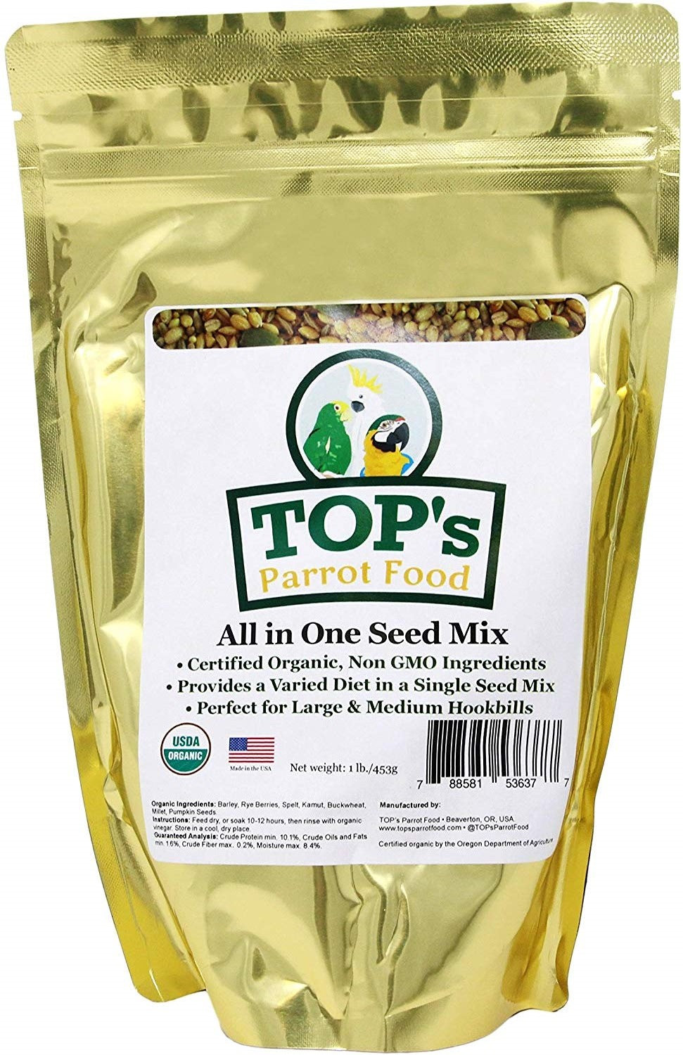 TOP's All-in-One Seed Mix, 1 lb