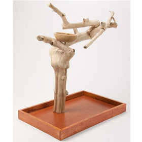 Java Wood Bird Playstand Full Length Medium