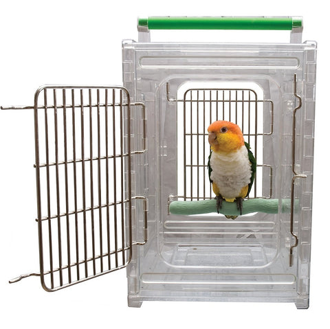 Caitec Perch N GoClear View Bird Carrier And Travel Cage, Small
