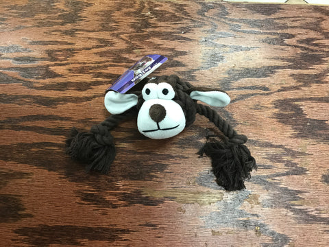 TUG AND PLAY, COTTON BRAIDED WITH 2NKNOTS SQUEAKER DOG TOY
