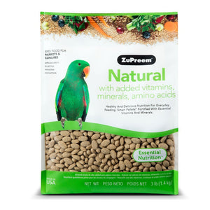 Zupreem Natural for Parrots & Conures, 3 lbs