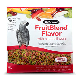 Zupreem FruitBlend Diet for Parrots & Conures, 12 lbs