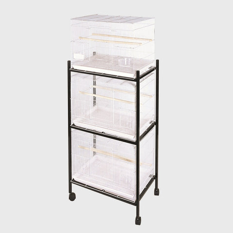 "3 Tier, Black Stand for 24""x16"" Flight Cages"
