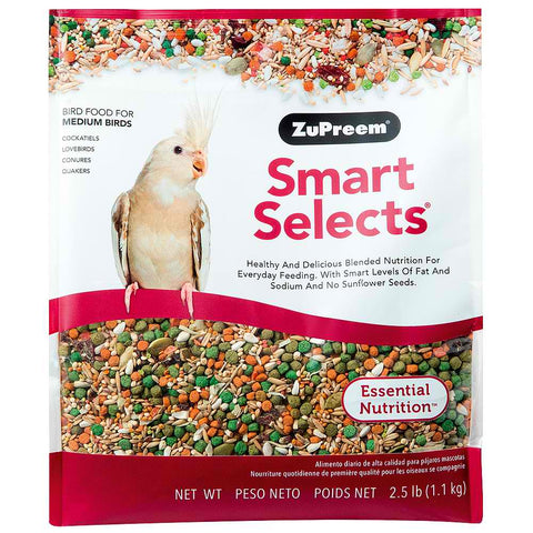 Zupreem Smart Selects for Medium Birds, 2.5 lbs