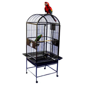 "24""x22"" Dometop Cage, Brass"