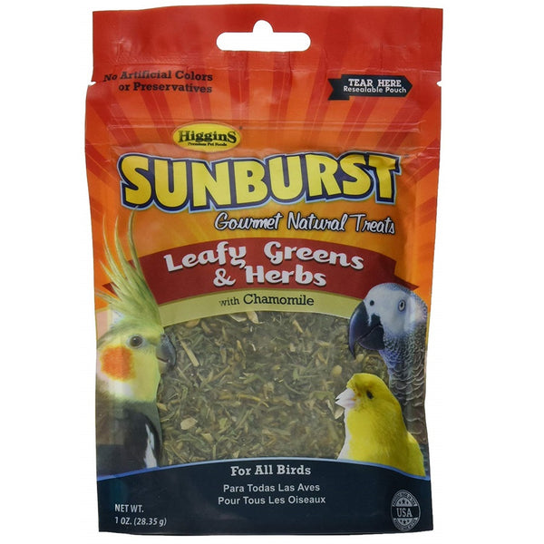 Higgins Sunburst Leafy Greens & Herbs Gourmet Treats, 1 oz
