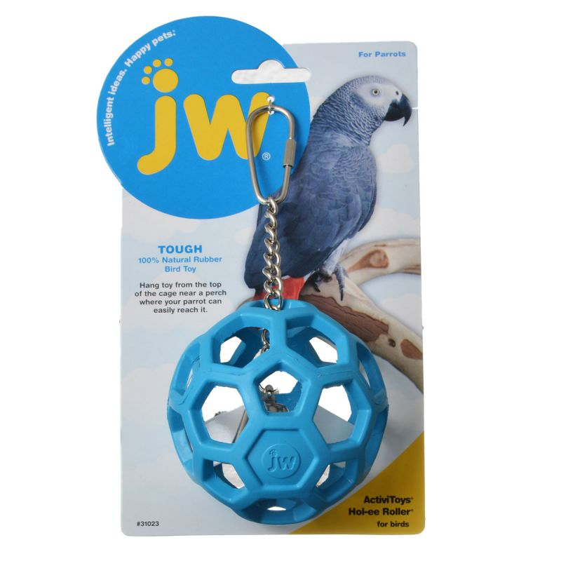 JW Insight Hol-ee Roller Rubber Parrot Toy