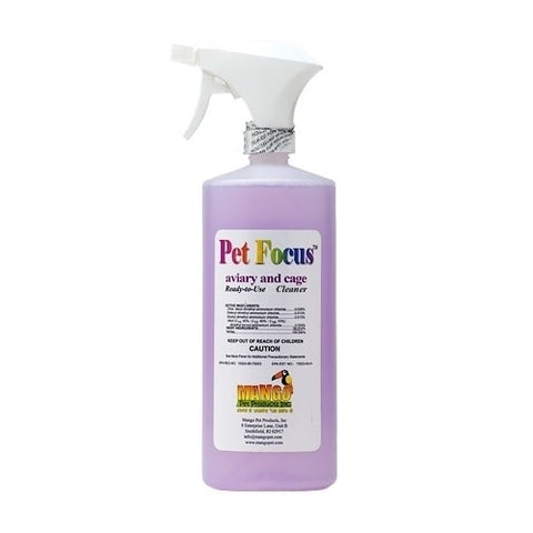 Pet Focus Aviary and Cage Cleaner - Ready-to-Use, 8 oz