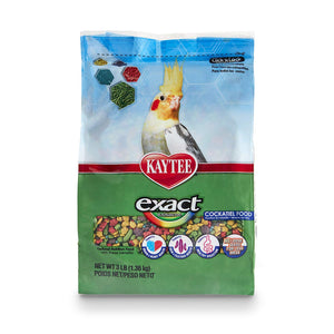 Kaytee Exact Rainbow Premium Daily Nutrition for Cockatiels, 3lbs