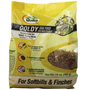 Quiko Goldy Egg Food for Insectivores, 14 oz