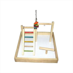 Cage Wood Tabletop Play Station